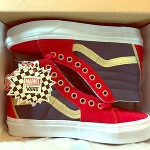 Marvel x Vans Captain Marvel Sk8-Hi Shoes